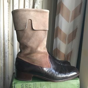 Shoes - Vintage Brown Leather Boots